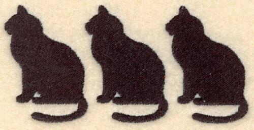 Embroidery Design: Black cats three3.90w X 1.89h