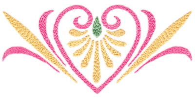 "Embroidery Design: Elegant Heart (large)6.32"" x 3.07"""