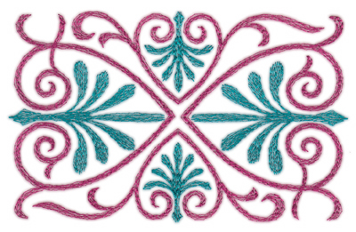 """Embroidery Design: Swirling Hearts (small)5.28"""" x 3.36"""""""