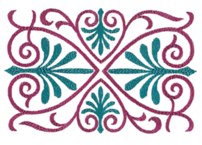 """Embroidery Design: Swirling Hearts (large)7.92"""" x 5.05"""""""