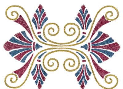 "Embroidery Design: Roman Tassle 15.92"" x 4.36"""