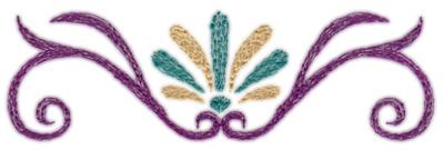 """Embroidery Design: Deco Swirl (small)4.70"""" x 1.44"""""""