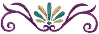 "Embroidery Design: Deco Swirl (large)7.52"" x 2.30"""