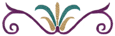 "Embroidery Design: Deco Swirl 2 (large)7.54"" x 2.25"""