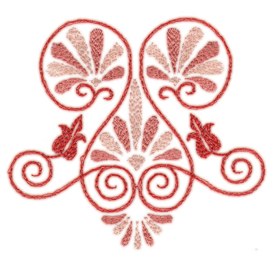 """Embroidery Design: Elegant Deco 1 (small)4.24"""" x 3.97"""""""