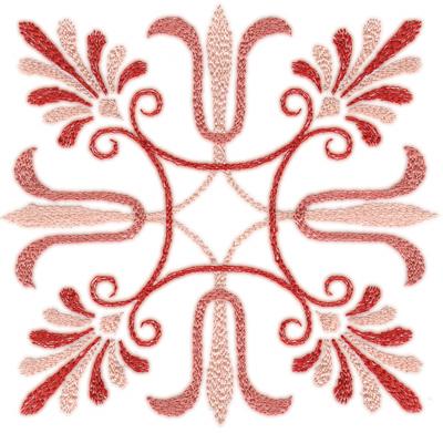 """Embroidery Design: Elegant Deco 2 (small)4.54"""" x 4.46"""""""
