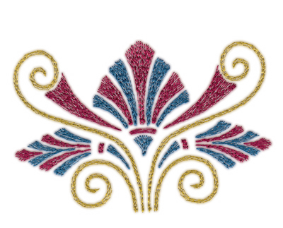 "Embroidery Design: Roman Tassle 34.36"" x 2.97"""