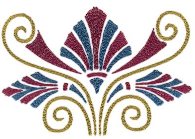 "Embroidery Design: Roman Tassle 47.11"" x 4.83"""