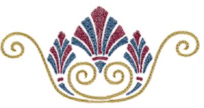 "Embroidery Design: Roman Tassle 75.73"" x 2.86"""