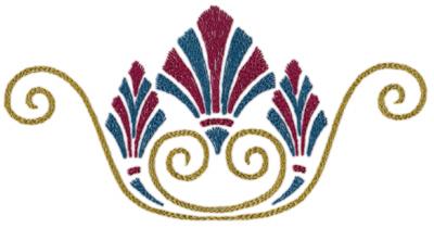 "Embroidery Design: Roman Tassle 89.34"" x 4.66"""