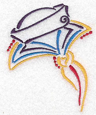 Embroidery Design: Sailor's cap and collar small 2.74w X 3.49h