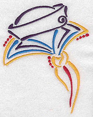 Embroidery Design: Sailor's cap and collar large 3.91w X 4.99h