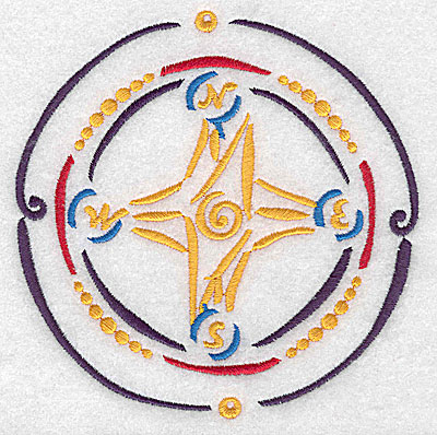 Embroidery Design: Compass large 4.87w X 4.96h