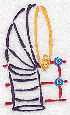 Embroidery Design: Ship's smokestack large 2.98w X 4.98h