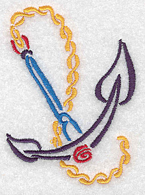 Embroidery Design: Anchor small 2.52w X 3.47h