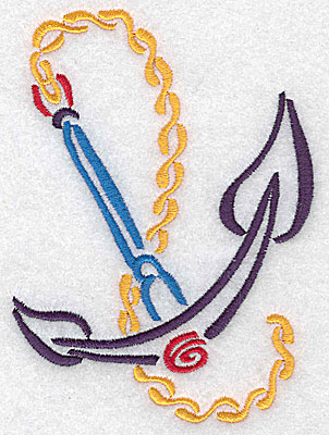 Embroidery Design: Anchor large 3.62w X 4.98h