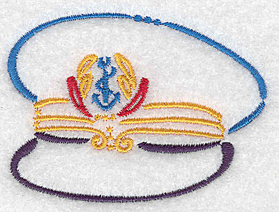 Embroidery Design: Captain's hat small 3.03w X 2.24h
