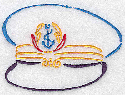 Embroidery Design: Captain's hat large 4.98w X 3.67h