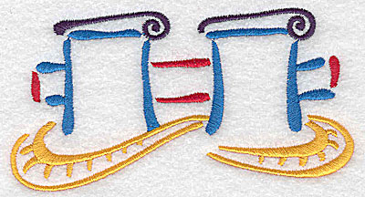 Embroidery Design: Ship's mooring large 4.99w X 2.68h