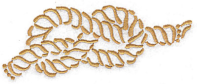 Embroidery Design: Nautical rope knot large 4.95w X 1.96h