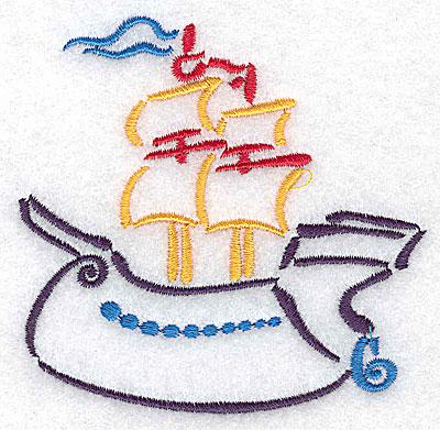 Embroidery Design: Ship small 3.50w X 3.40h