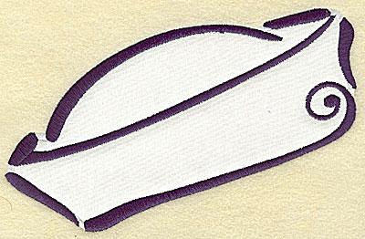 Embroidery Design: Sailor's cap applique 6.84w X 4.49h