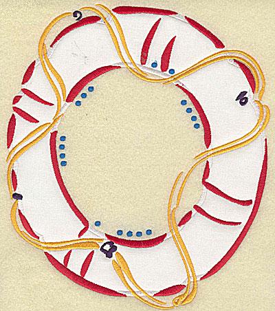 Embroidery Design: Lifebuoy applique 8.81w X 7.68h