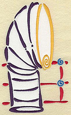 Embroidery Design: Ship's smokestack applique 4.66w X 7.78h