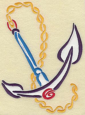 Embroidery Design: Anchor applique 5.68w X 7.78h