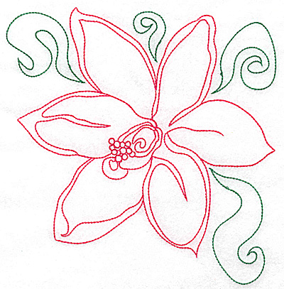 Embroidery Design: Orchid 2 large 6.91w X 6.94h