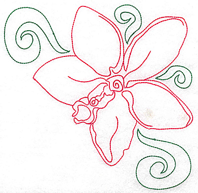 Embroidery Design: Orchid 4 large 6.92w X 6.90h