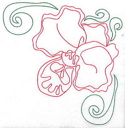 Embroidery Design: Orchid 5 large 6.96w X 4.94h