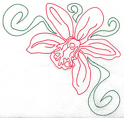 Embroidery Design: Orchid 9 large 6.92w X 6.68h