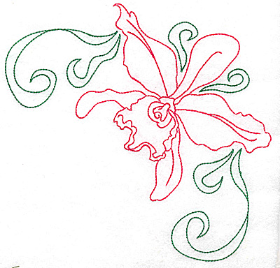 Embroidery Design: Orchid 10 large 6.91w X 6.90h