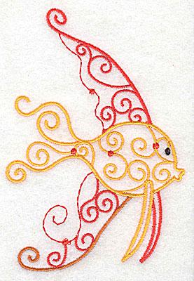 Embroidery Design: Fish A 3.39w X 4.96h