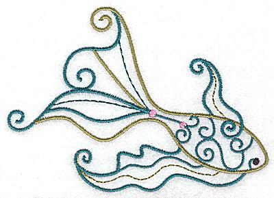 Embroidery Design: Fish B 4.98w X 3.51h