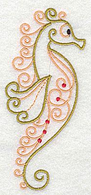 Embroidery Design: Seahorse  2.22w X 4.96h