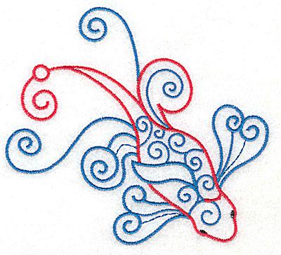 Embroidery Design: Fish C 4.98w X 4.50h