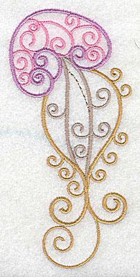 Embroidery Design: Jellyfish 2.47w X 4.94h