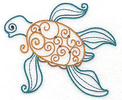 Embroidery Design: Sea Turtle 4.94w X 4.12h