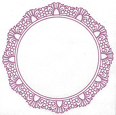Embroidery Design: Circular frame 101 large 7.75w X 7.75h
