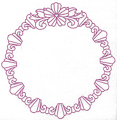Embroidery Design: Circular frame 104 large 7.50w X 7.75h