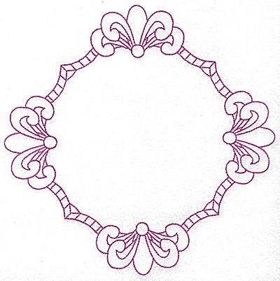 Embroidery Design: Fleur-de-lys frame 105 large 7.76w X 7.76h