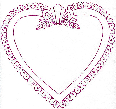 Embroidery Design: Heart shaped frame 109 large 8.34h X 7.75h