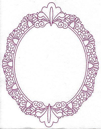 Embroidery Design: Oval frame 110 large 9.86w X 7.76h