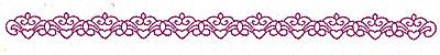 Embroidery Design: Fleur-de-lys and heart design 113 large  1.67w X 0.68h