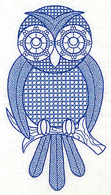 Embroidery Design: Owl A large 3.71w X 6.94h