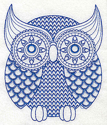 Embroidery Design: Owl B large 4.97w X 5.98h