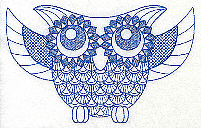Embroidery Design: Owl C large  6.95w X 4.39h