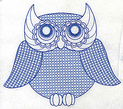 Embroidery Design: Owl F large 6.90w X 6.07h